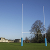 10.1m Socketed Senior Aluminium Rugby Posts